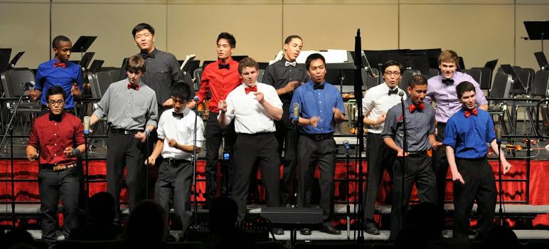 Men's A Cappella at the Spring Concert